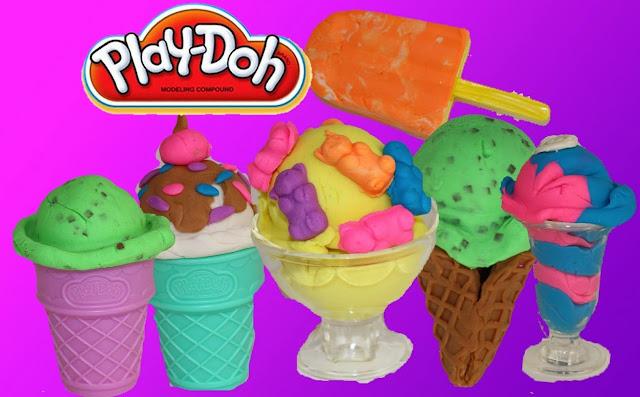 Bộ làm kem sắc màu Play-Doh Scoops 'n Treats là món đồ chơi bột nặn Play-Doh rất thú vị