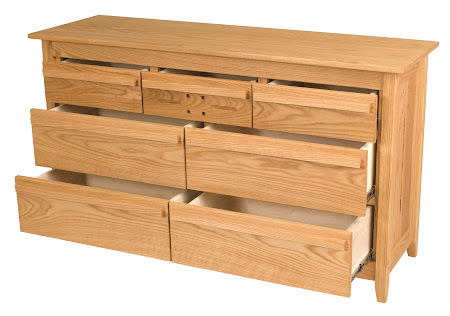 Florence Horizontal Dresser in Oak, Oil & Wax Finish
