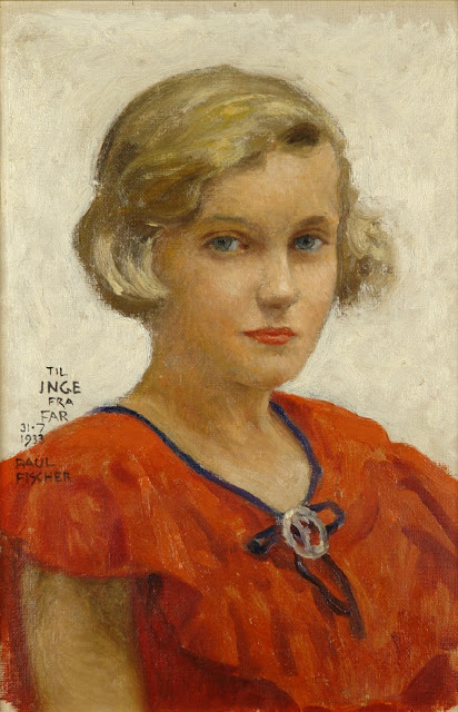 Paul Gustave Fischer - Portrait of the artist's daughter, Inge