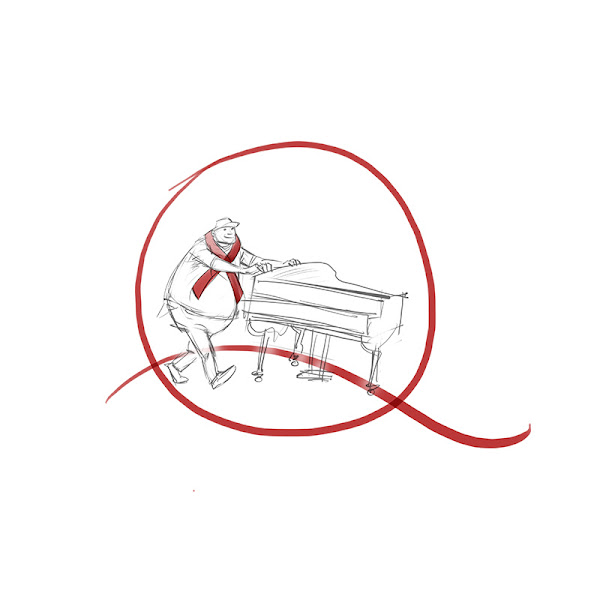 concept sketch for piano moving company logo