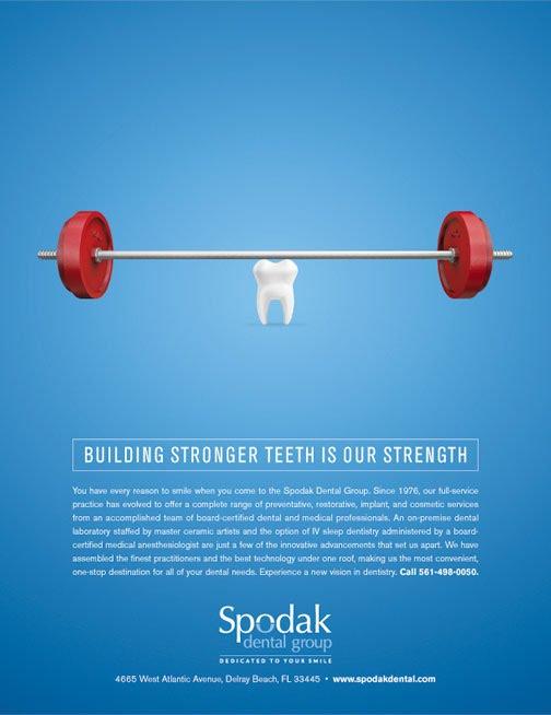 Серия рекламных плакатов для стоматологии