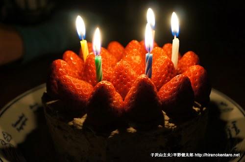 次女の誕生日ケーキ