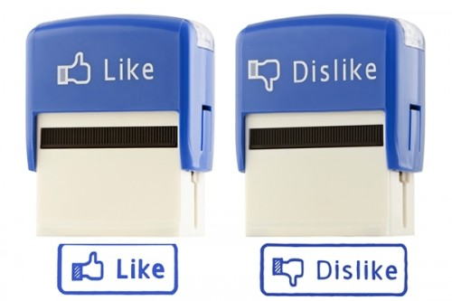 dislike and like stamps