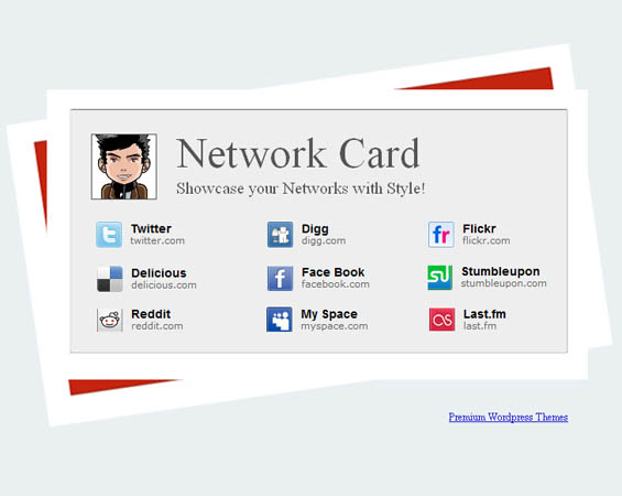 Blogger templates Network Card