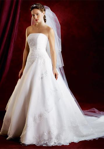 Strapless Hochzeit Kleider