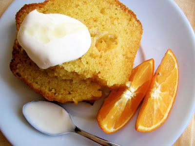 slices of delicious tangerine olive oil pound cake
