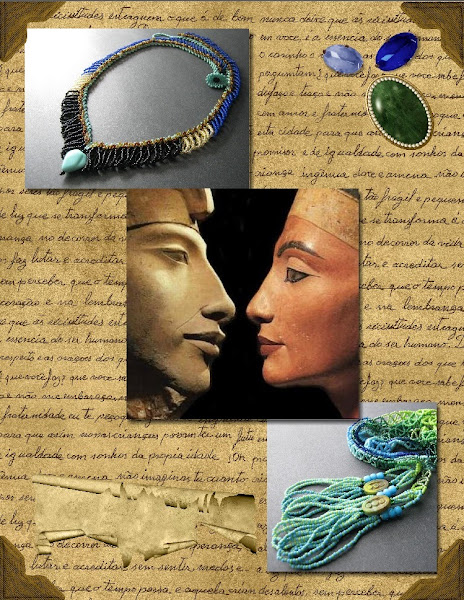 Egyptian Jewelry Collage with Heritage Scrapbook Elements