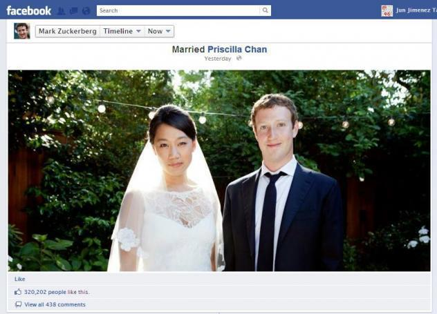 Mark Zuckerberg And His Married Wife Priscilla Chan