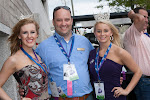 Miss NC Airlie Honeycutt, Board Member Justin Wolfe, and 2013 NCAF Princess Paxton Webster