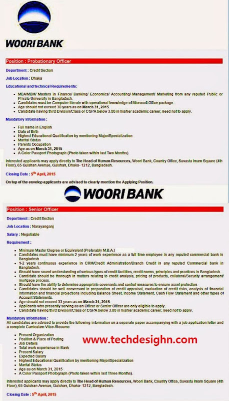 woori bank probationary officer