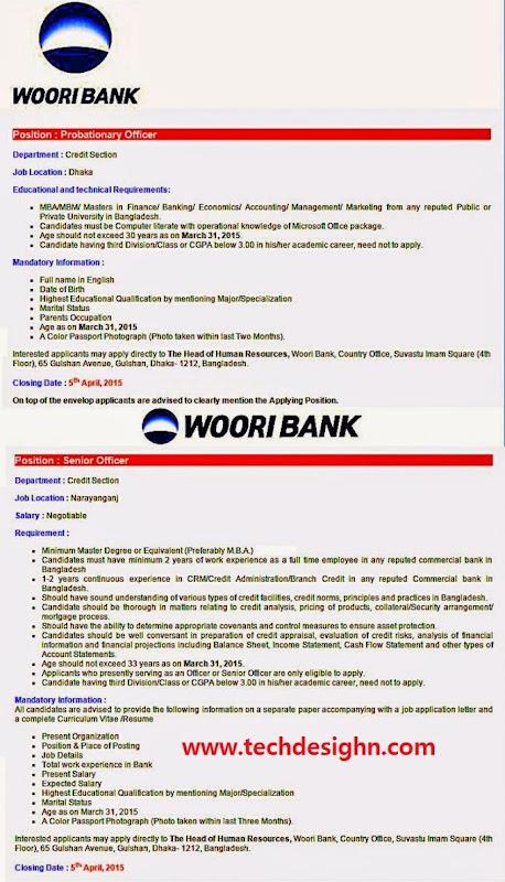 woori bank probationary officer