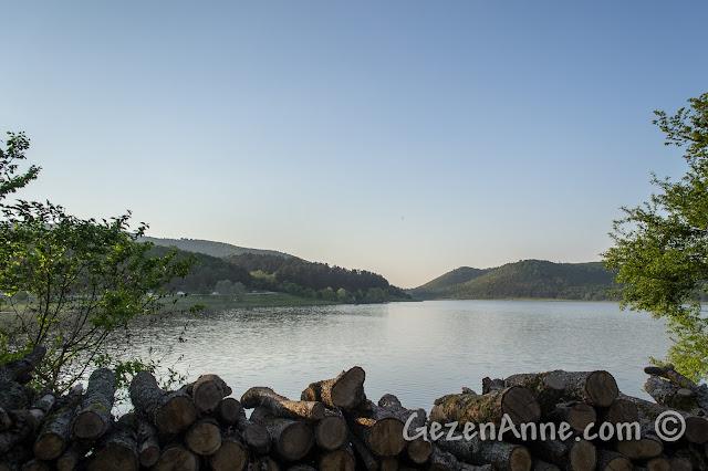 Sakarya Poyrazlar Gölü'nde gün batımı