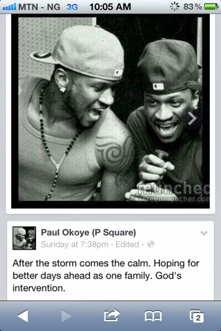 psquare settled fight