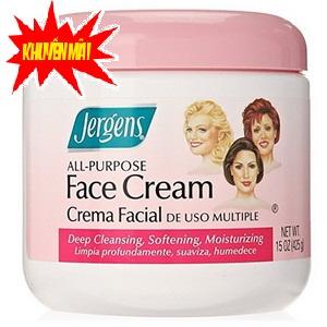 Kem Dưỡng ẩm và Mịn Da mặt Jergens Face Cream hàng xách tay Mỹ