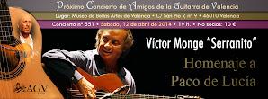 "Concierto de AGV: Víctor Monge ""Serranito"". 12 abril 2014"
