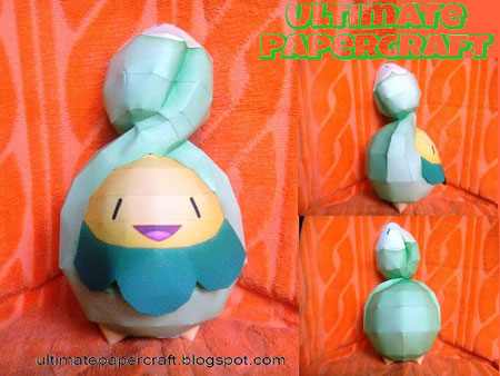 Pokemon Budew Papercraft