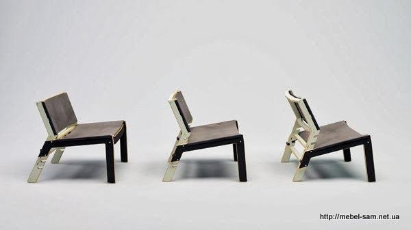 Фанерный стул INDU - разные варианты посадки