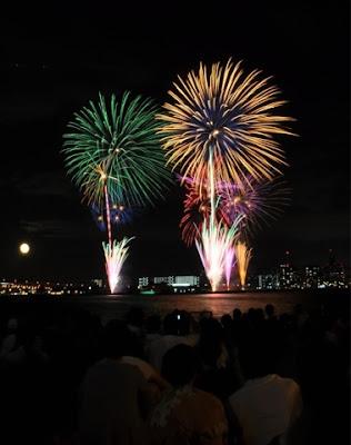 Chụp ảnh pháo hoa ở Nhật Bản.