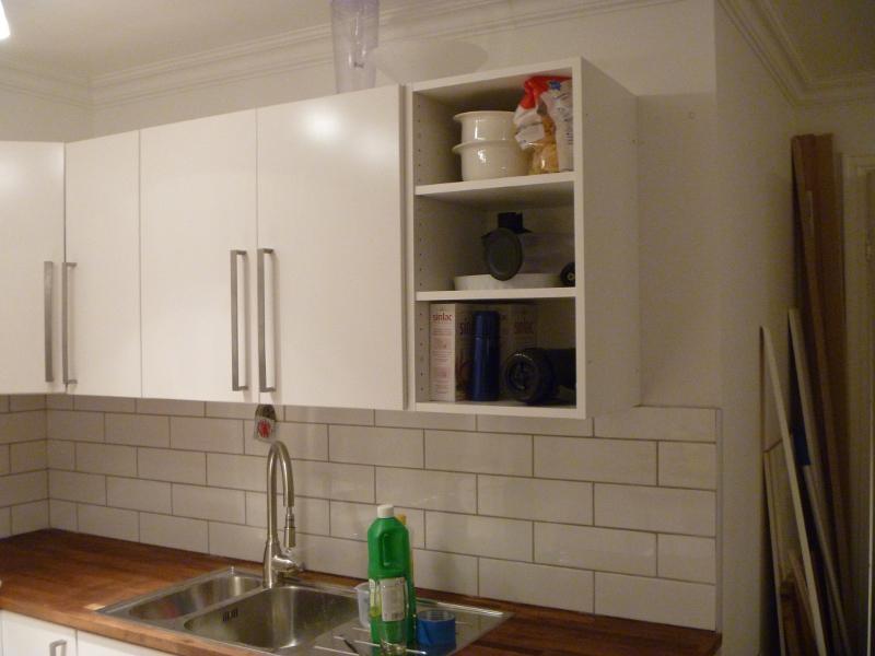 second hand ikea faktum cabinet into wine rack mauricio. Black Bedroom Furniture Sets. Home Design Ideas