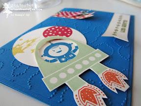 stampin up blast off für kleine astronauten kindergeburtstag einladung