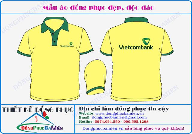 Dong phuc ngan hang Vietcombank