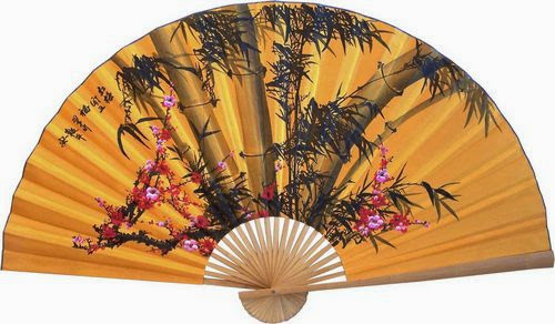 Large folding wall fan