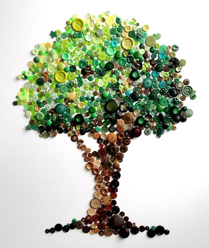 *彩虹鈕扣藝術畫:Karen Hurley 幼年的激發! 2