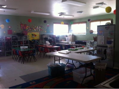 preschool room at Mountain Kids in Fort Collins, Colorado www.thebrighterwriter.blogspot.com