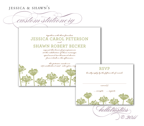custom printable DIY wedding invitation design