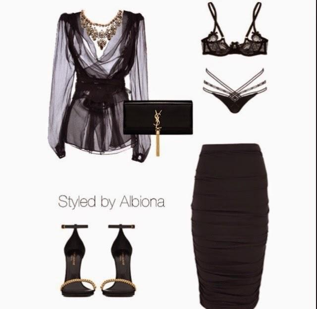 Sheer Black Blouse Trend 11