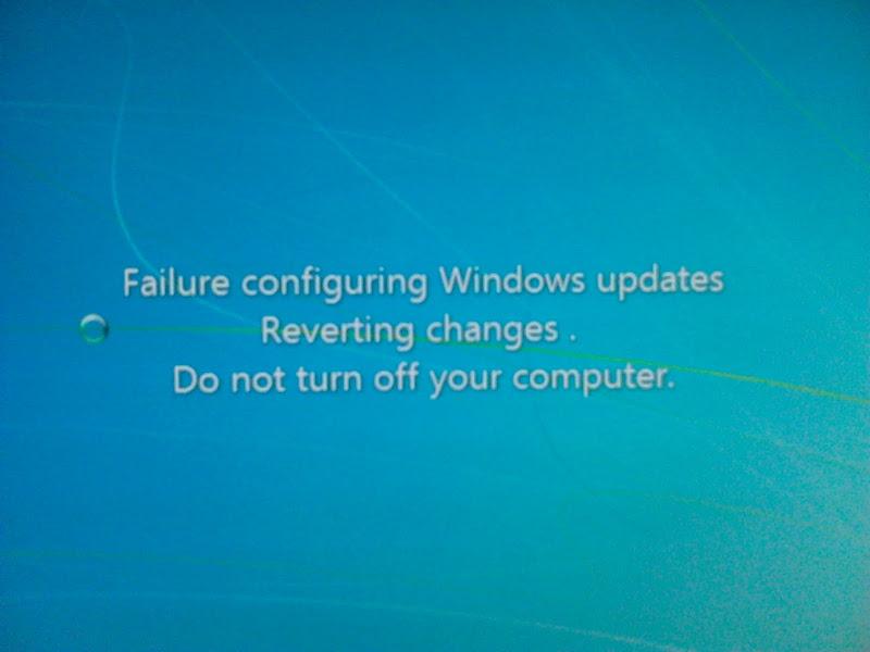 windows 7 update reverting changes fix