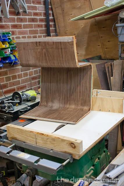 Заготовка основной гнутой фанерной детали стула