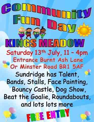 Sundridge park bromley kings meadow community fun day 2013