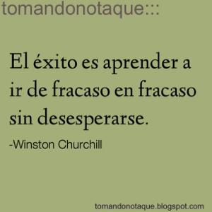 """frases celebres de éxito y Winston Churchill"""