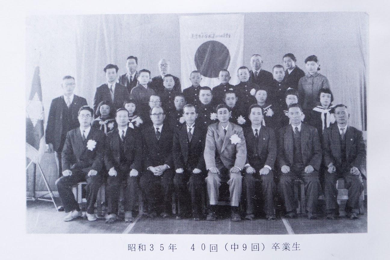 昭和35年(1960年)北竜町立美葉牛小学校40回卒業生・美葉牛中学校9回卒業生