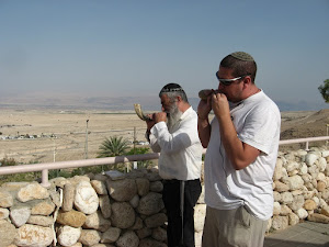 Blowing the Shofar round Jericho