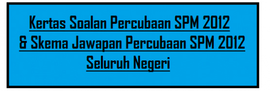 Koleksi Soalan SPM 2012 Seluruh Negeri Di Malaysia