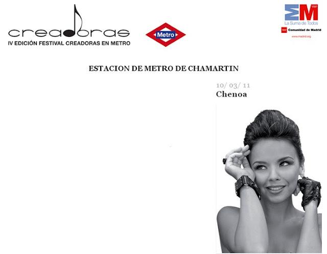 Entradas para el concierto de Chenoa en el Festival creadoras