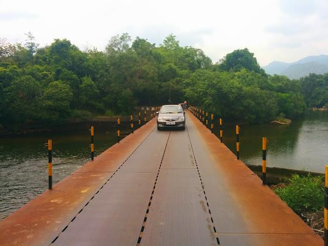 Metal bridge in the Agastyar forests