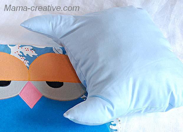 набить подушку синтепоном