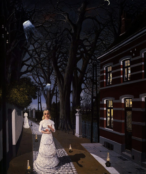 Paul Delvaux - All the lights, 1962