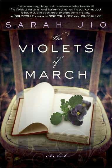 book cover for The Violets of March