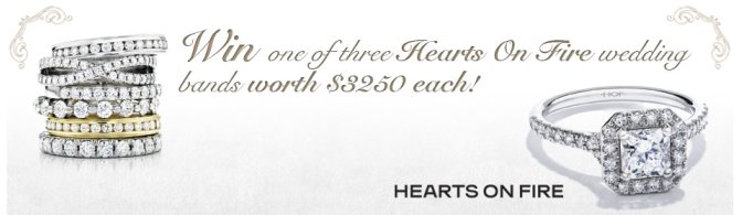 Click here to submit your chance to win one of three Hearts On Fire wedding bands