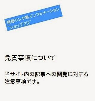 情報リンク集インフォメーション~ショップフジ~_免責事項・概要の画像