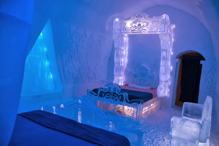Disney Frozen Suite at the Hotel de Glace in Quebec City