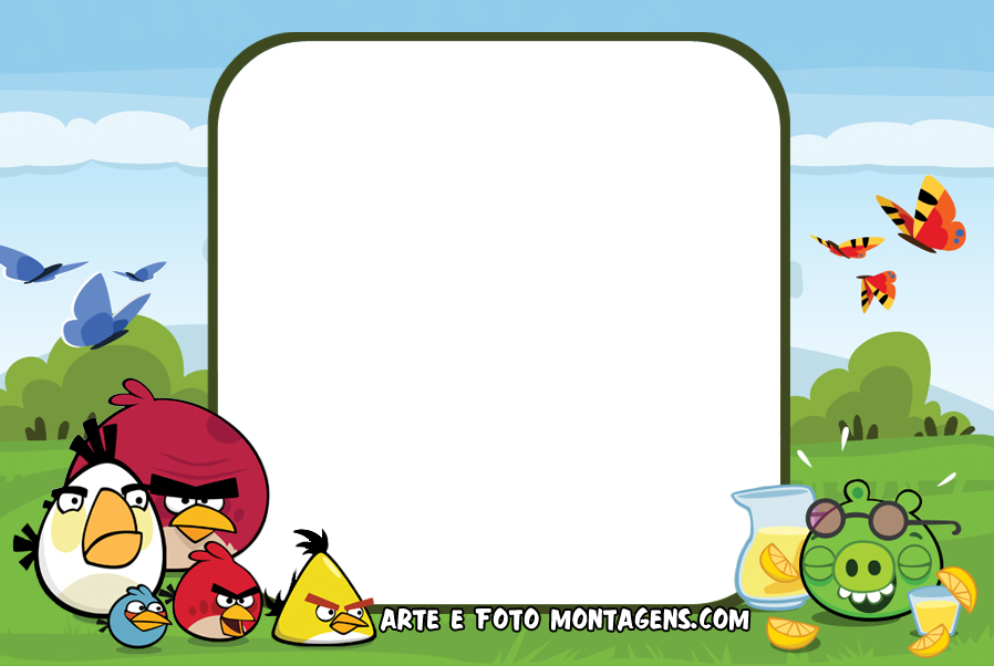 Colorido Angry Birds Personagens Vector: Personagens A-D