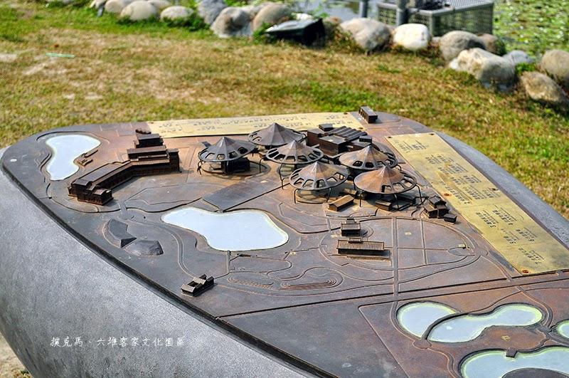 六堆客家文化園區模型地圖