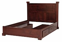Walnut Beds with Storage
