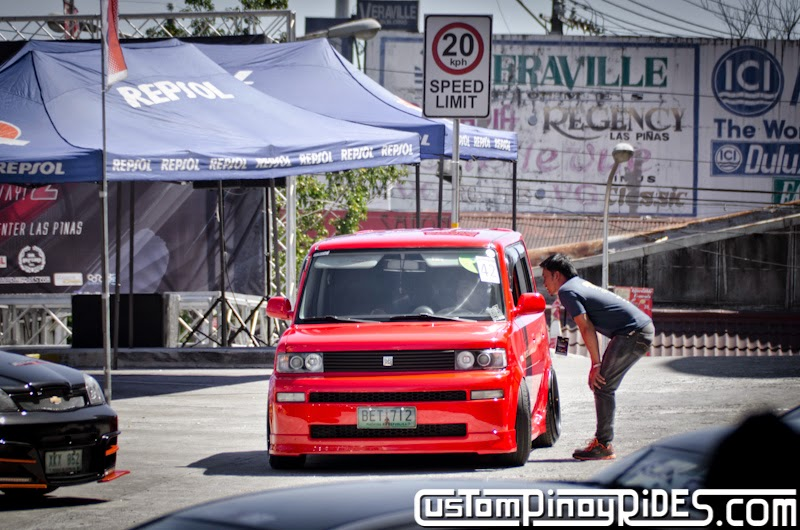 Red Toyota bB stanced on Black BBS RS Mesh Wheels Custom Pinoy Rides Car Photography Manila Philippines pic4