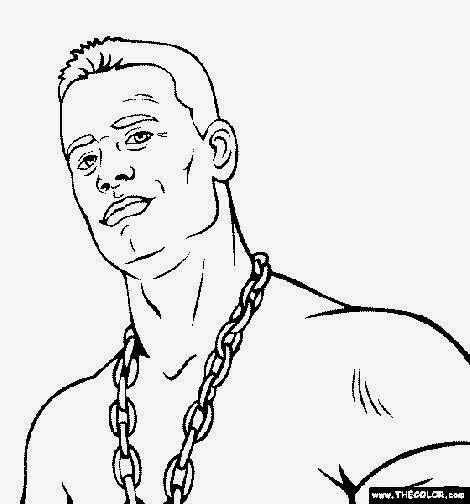 John Cena Easy Coloring Pages